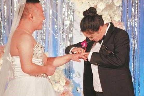 عوض شدن لباس عروس و داماد در روز مراسم