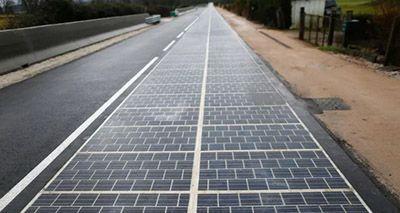 فناوری جاده با پنل های خورشیدی در فرانسه
