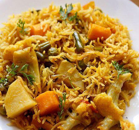 طرز تهیه پلو سبزیجات هندی خوش عطر و طعم