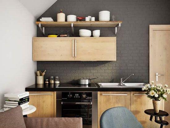 دکوراسیون آشپرخانه به رنگ تیره و سیاه