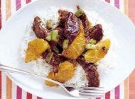 آموزش تهیه خوراک گوشت و پرتقال از خطه چین