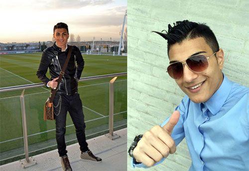 این پسر ایرانی معروف ترین هوادار کریس رونالدو است