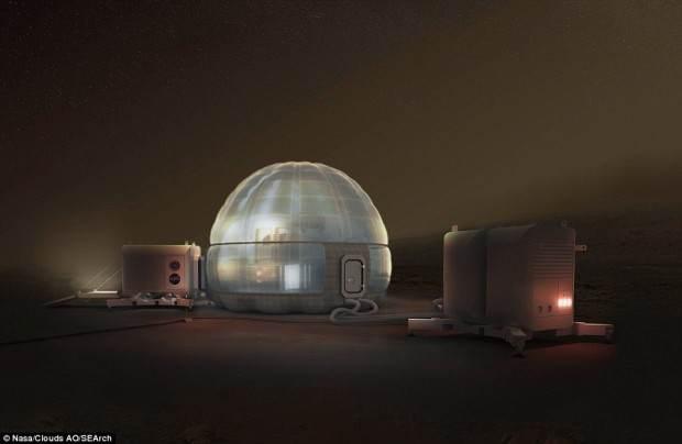 درباره ساخت خانه های یخی در سیاره مریخ