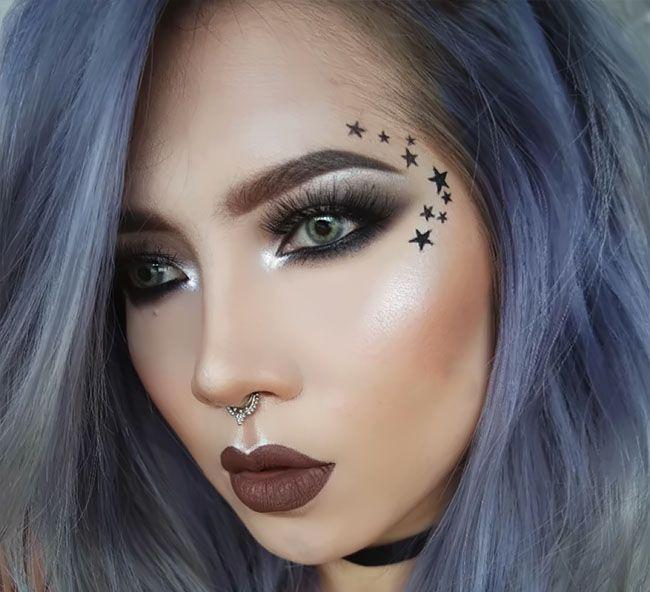 مدل زیبای آرایش صورت فانتزی از Elsa Amelia