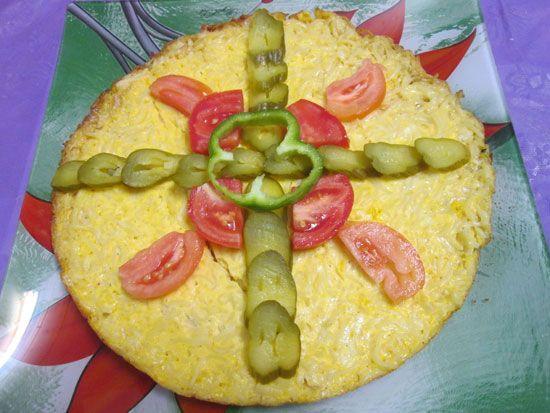 آموزش تهیه کوکوی نودل خوشمزه و پنیر عالی