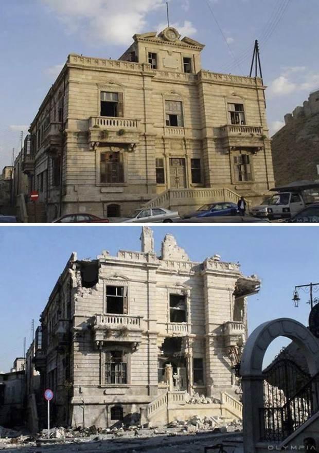 عکس های جالب شهر حلب قبل و بعد از ویرانی