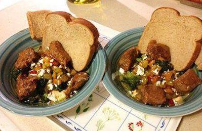 دستور پخت خوراک گوشت به همراه سبزی