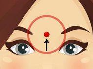ماساژ دادن پیشانی برای ریلکس کردن بدن