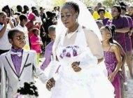 جشن ازدواج زن 62 ساله و داماد 9 ساله اش