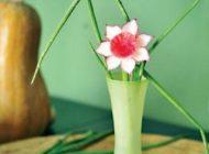 آموزش تزیین گلدان با قسمت انتهایی شلغم