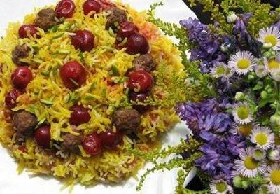 زیباترین تزیین های غذای آلبالو پلو بی نظیر
