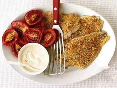 آموزش تهیه ماهی و گوجه کبابی ناهار خوشمزه