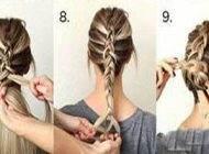 آموزش تصویری بافت مدل موی دخترانه