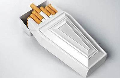 تاثیر عکس ها و رنگ پاکت سیگار در مقدار مصرف