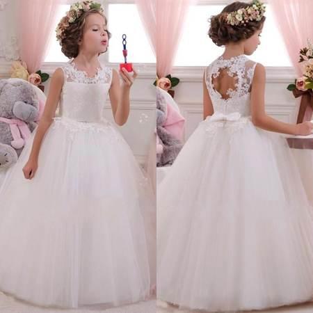 مدل لباس عروس بچه گانه 2017