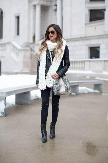 جذابیت زمستانی با شال گردن های بافتنی زنانه