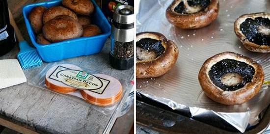 آموزش تهیه صبحانه قارچ و گوشت خوشمزه