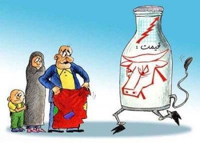 مجموعه کاریکاتورهای مفهومی قیمت شیر و گوشت