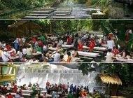 غذا خوردن در رستوران زیر آبشار کشور فیلیپین