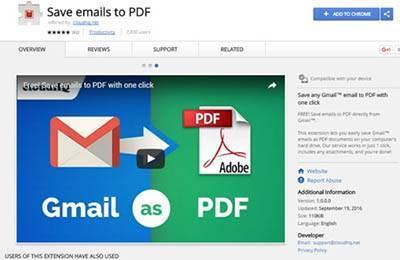 روش ذخیره سازی ایمیل با فرمت PDF