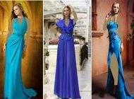 جدیدترین مدل لباس مجلسی حریر رنگ آبی برند lyalina