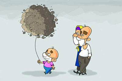 اس ام اس های طنز روز درباره آلودگی هوا