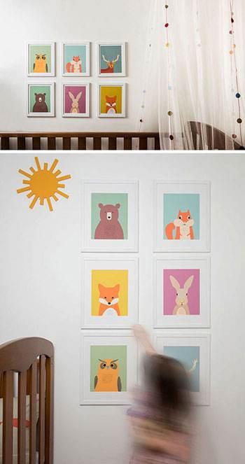 دکوراسیون اتاق خواب کودک به سبک جنگلی