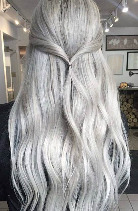 انواع مدل های موی زنانه به رنگ خاکستری