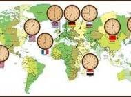 جدول اختلاف ساعت کشورهای دنیا با ایران