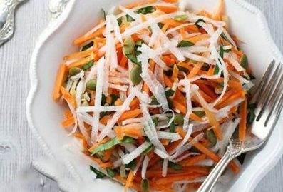 طرز تهیه سالاد شلغم و هویج خوشمزه