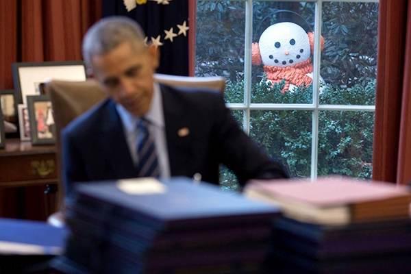 اوباما و خانواده اش در واپسین روزهای حضور در کاخ سفید