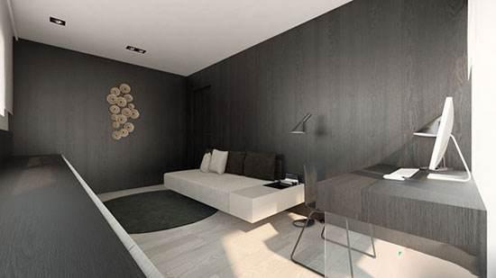 طراحی داخلی زیبا و شیک با پانل های چوبی