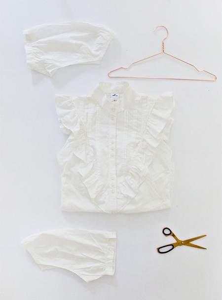 آموزش ساختن تاپ زنانه از پیراهن به صورت تصویری