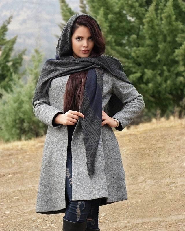 انواع مدل های مانتو زمستانی ایرانی Silkwaymezon