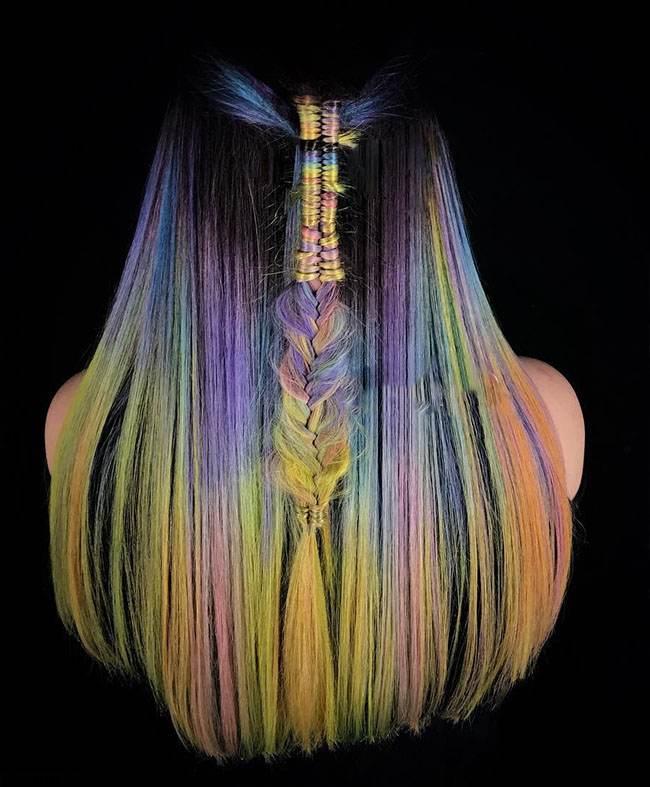 مدل موهای جدید با رنگ های فانتزی از Megan Schipani