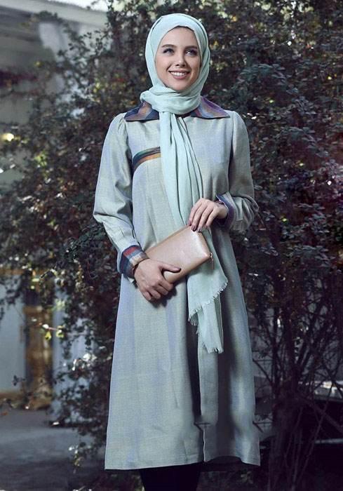 انواع مدل های مانتو زنانه طرح اسلیمی عید نوروز 96