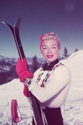 عکس های دیدنی چهره های مشهور هنگام ورزش اسکی