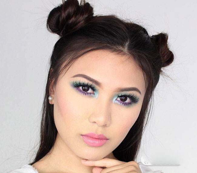 آرایش صورت و مدل موی زنانه از Charmie Janee