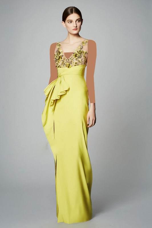 مدل های زیبای لباس مجلسی برند Marchesa