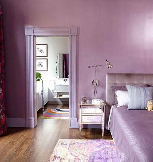 کاربرد عالی رنگ یاسی در دکوراسیون اتاق خواب