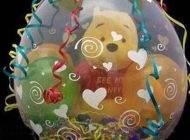 تزیین کادوی ولنتاین عروسک درون بادکنک