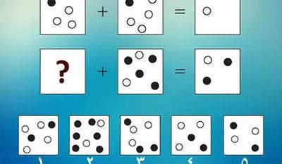 تست هوش تصویری تعداد نقاط سیاه و سفید