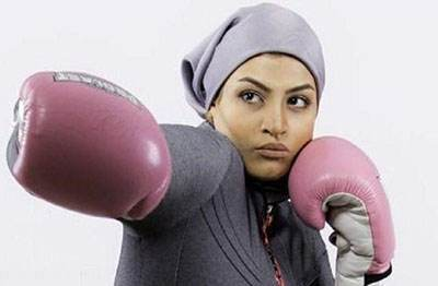 صدف خادم جوان ترین دختر بوکسور ایرانی