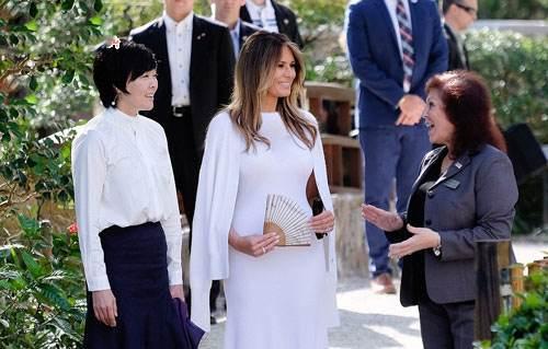 گشت و گزار ملانیا ترامپ و همسر نخست وزیر ژاپن