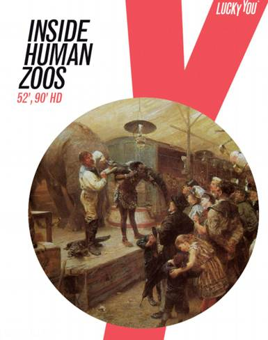 به نمایش گذاشتن انسان ها همراه حیوانات در باغ وحش