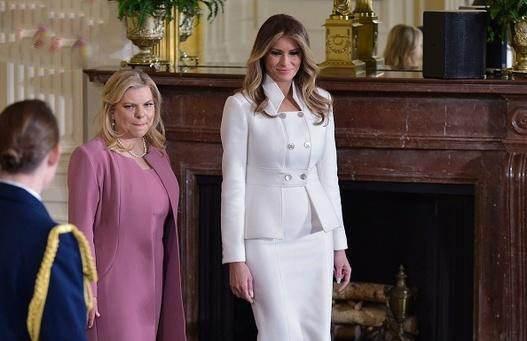 گردش در کاخ سفید ملانیا ترامپ و همسر نتانیاهو