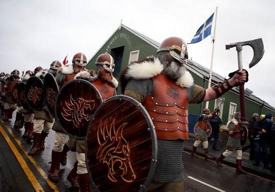 فستیوال عجیب و جالب وایکینگ ها در اسکاتلند