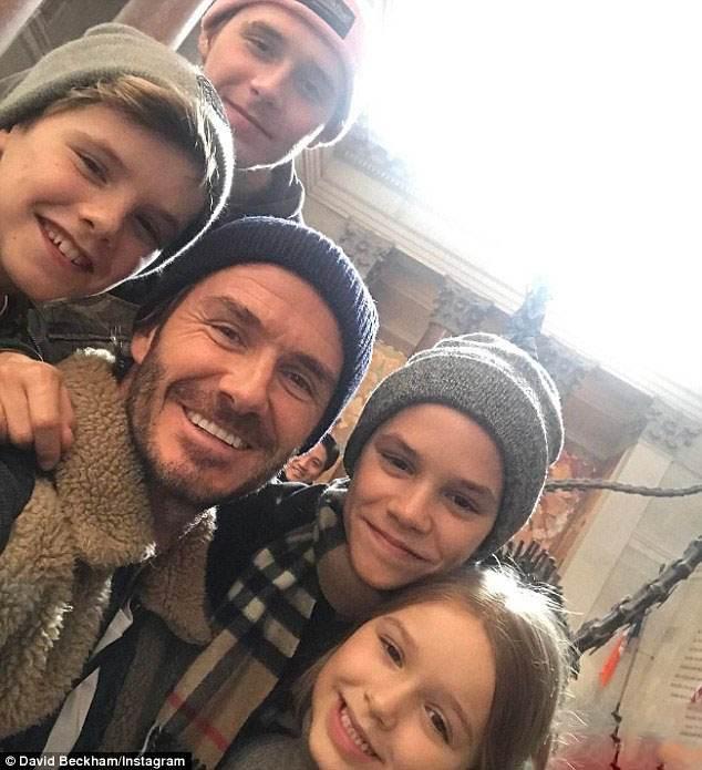 تفریحات لوکس زمستانی دیوید بکهام و خانواده اش