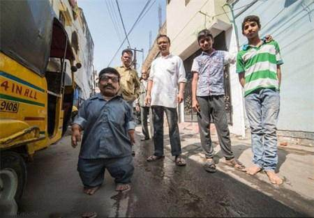 خانواده کوتوله ها در هندوستان رکورد زدند