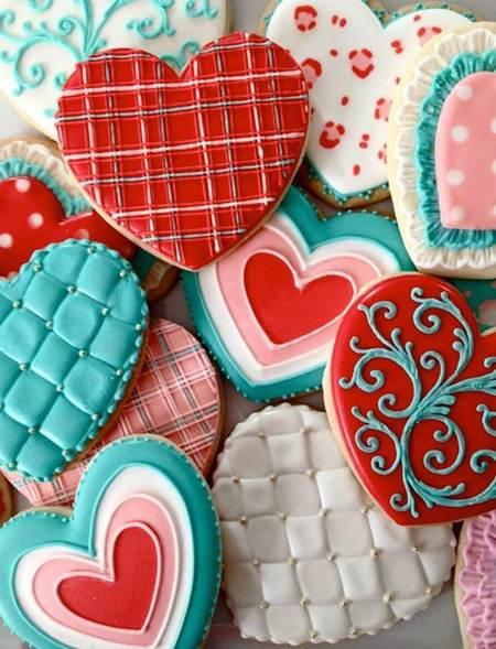 نمونه تزیینات شیرینی و کوکی مخصوص ولنتاین